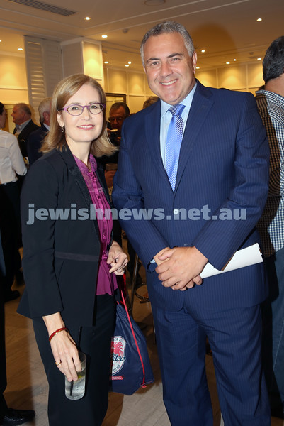 AJN 120th. Gabrielle Upton & Joe Hockey.