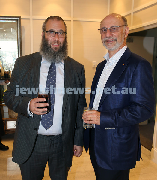 AJN 120th. Rabbi Mendel Kastel & Peter Philippsohn.