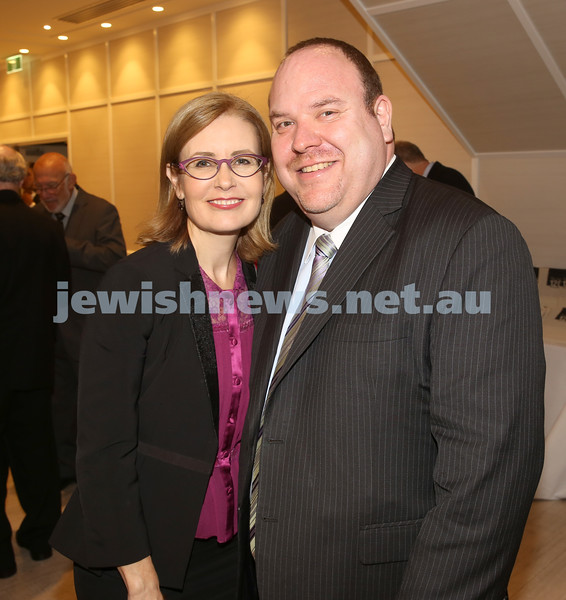 AJN 120th. Gabrielle Upton MP and Yair Miller.
