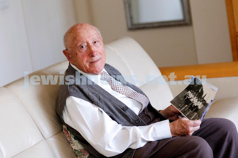11-4-19. Jack Unikowski, one of the last surviving Buchenwald boys. Photo: Peter haskin