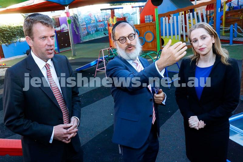 27-2-19. Federal Education Minister Dan Tehan visits Beth Rivkah Ladies College. Photo: Peter Haskin