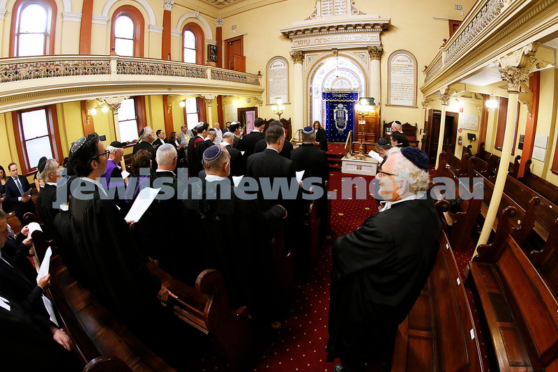 29-1-19. Opening of the law year. Service at East Melbourne shule. Photo: Peter Haskin