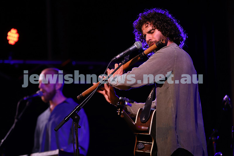 """5-3-20. Habayit presents sounds and stories from Israel """" Shayari"""" at Memo Music Hall , St Kilda. The duo of Shay Perry and Ari Jacob. Photo: Peter Haskin"""