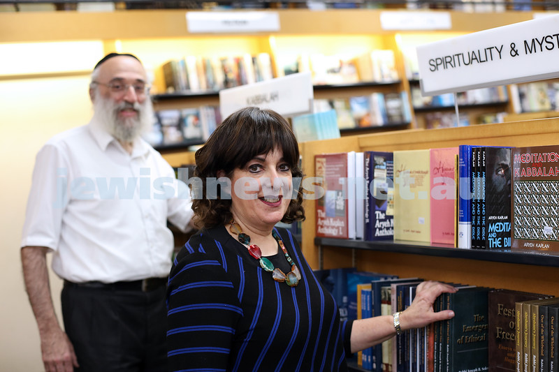 3-2-21. Miriam and Yirmi Goldschmeidt at Golds bookstore of Carlise St in Melbourne. Photo: Peter Haskin