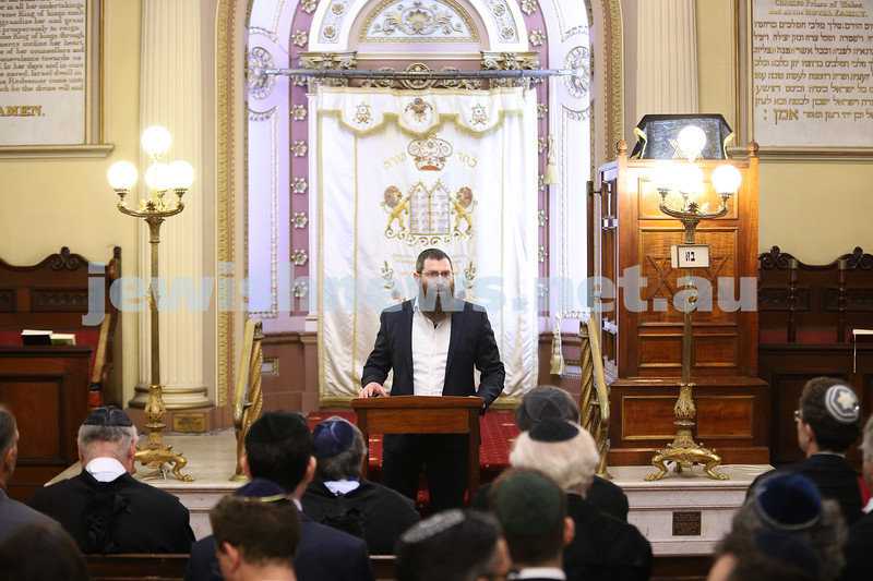 27-1-21. Opening of the law year at East Melbourne Hebrew Congregation. Photo: Peter Haskin