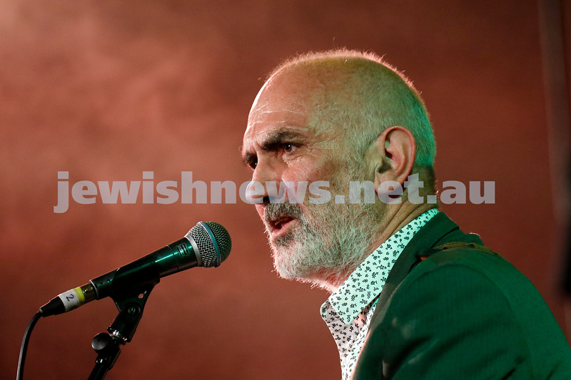 8-4-21. FOJAM. Uprising: Songs of Resistance starts at the close of Yom Hashoah (Holocaust Remembrance and Heroism Day) celebrating resistance through song and story, and takes place on the land of the Boon Wurrung people of the Kulin Nation.. Paul Kelly. Photo: Peter Haskin
