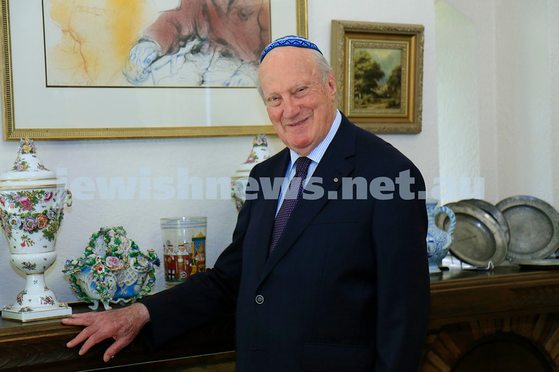 22-1-21. Rabbi John Levi received an AC on Australia Day honors 2021. Photo: Peter Haskin