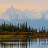 Smokey Morning, Alaska Range From Wonder Lake