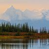 Smokey Morning, Alaska Range From Wonder Lake