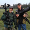 Photo nerds in their native habitat.  Doug Mader (left) and me.