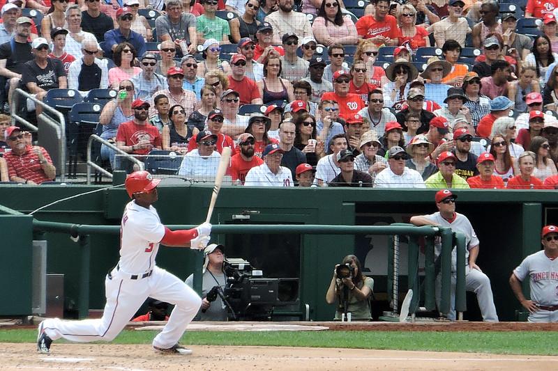 Michael A. Taylor at bat