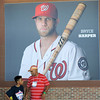 Bryce Harper poster on concourse