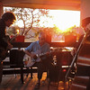 Jazz trio at sunset