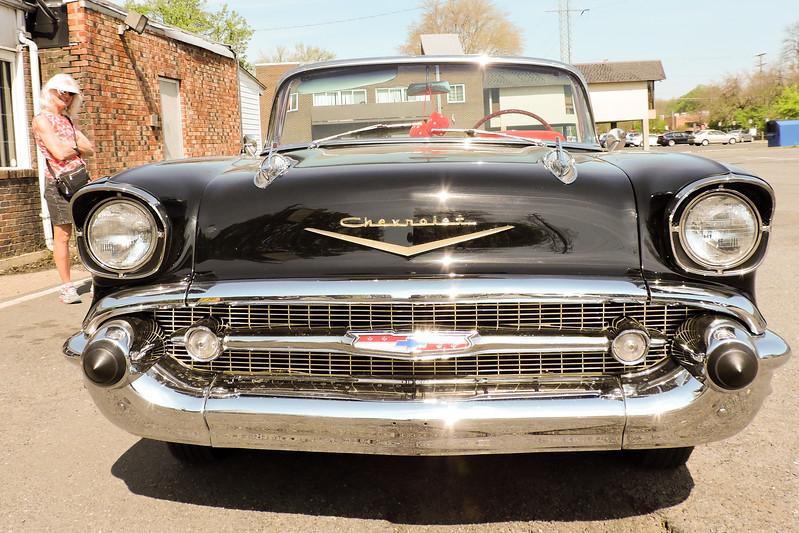 Restored 1957 Chevy convertible