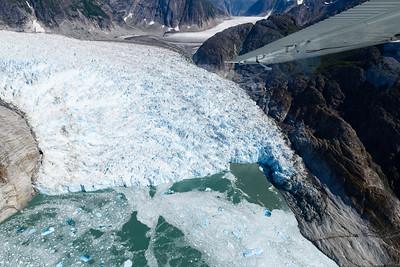 The Le Conte Glacier near Petersburg, AK. It is the southernmost sea level glacier in North America.