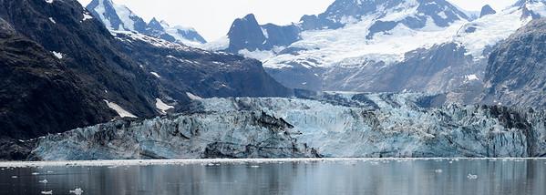 The Johns Hopkins Glacier in Glacier Bay National Park.