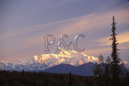 AK CANTWELL MT MCKINLEY FROM PRINCESS LODGE 1 W