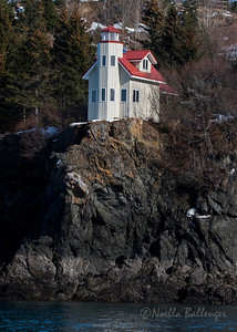 West Ismailof Island Lighthouse, near Halibut Cove