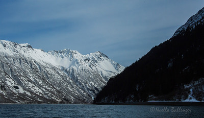 Mountains along the southern coast of Kachemak Bay