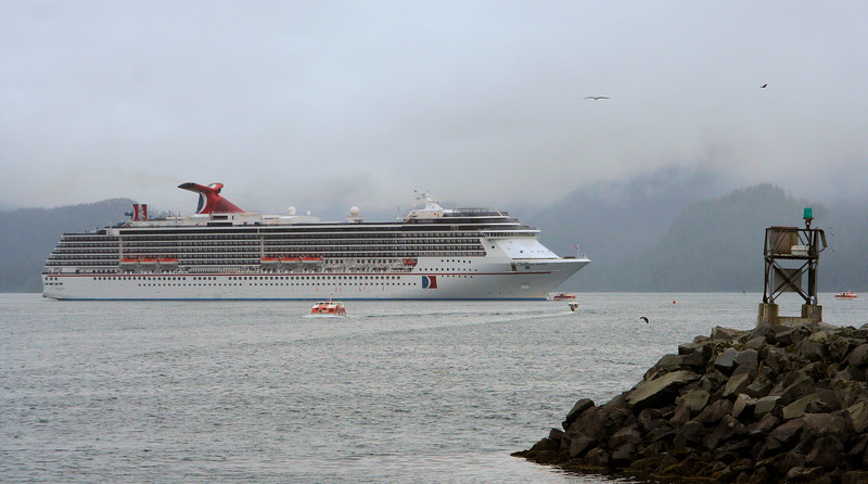 Our ship Carnival Spirit at  Sitka.