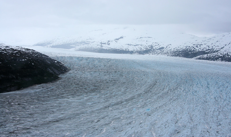 Norris Glacier stretching back to its source.