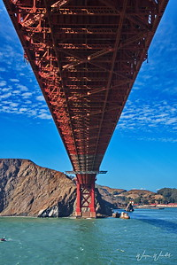 Passing Under the Golden Gate Bridge