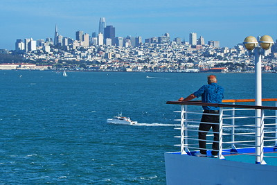 San Francisco from Deck 15 of the Grand Princess