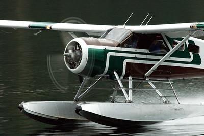Seaplane taking off at Ketchikan, AK