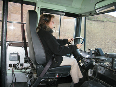 Park guide and bus driver; employee of Aramark