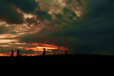 The clouds then moved back and this was the last we saw of the sun.  The gorgeous sunset became a mass of gray clouds.