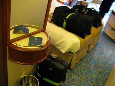 Our bags were waiting for us when we open the door to our cabin on the Coral Princess