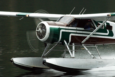 Float plane taking off