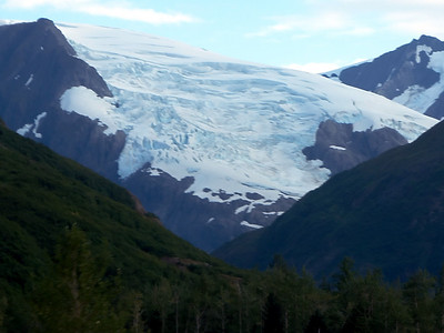 Glacier over Whittier, Alaska