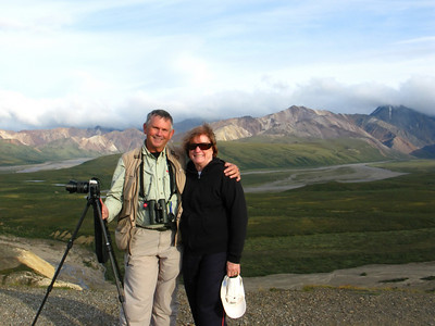 WW & MA at Polychrome Pass, Denali National Park