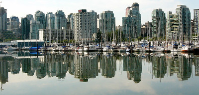 Vancouver, British Columbia, Canada  Modern skyline and harbor