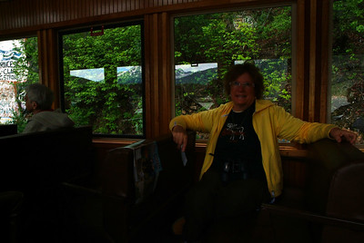 MA enjoying the train ride