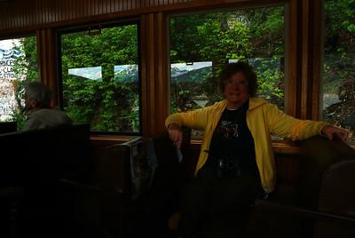 MA enjoying the train ride