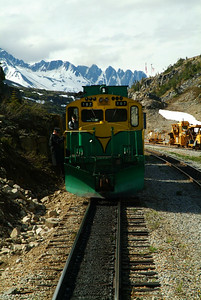 The engines switch ends and the back becomes the front for the trip back to Skagway.