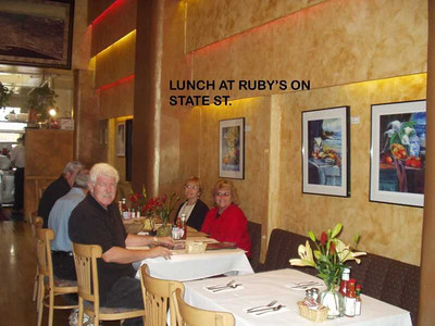 LUNCH AT RUBY'S ON STATE ST.