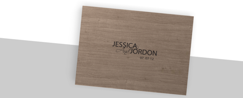 Jessica & Jordon album Maple with Crystal Glance-outside case overview
