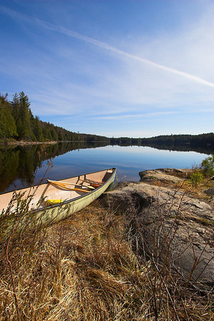 Algonquin Park Canoe on Kenneth Lake