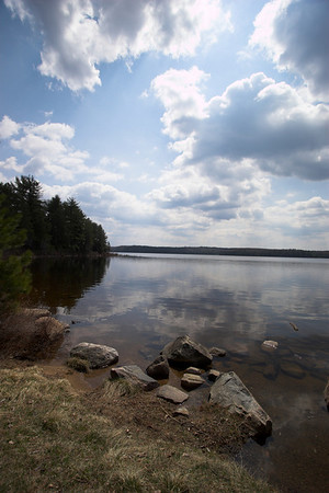 North arm of Lake Opeongo from shore