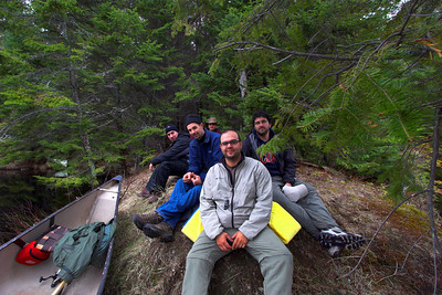 Taking a break on the Beaver Dam