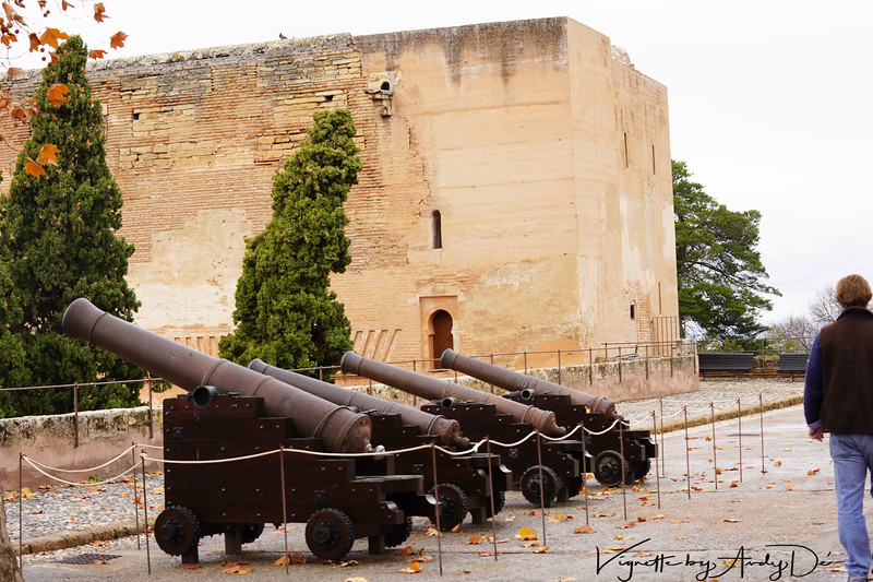 The Moorish Cannons built to protect the citadel that was the seat of power of the Moors who ruled over Spain from Granada!