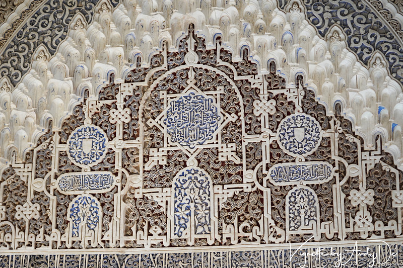 Islamic (Koranic) cenotaphs in praise of Allah on the walls of the Palaces, that will remind one of the Taj Mahal and the Fatehpur Sikri in India.
