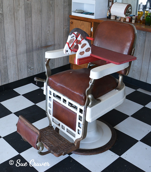 Old Barber Chair With Youth Seat