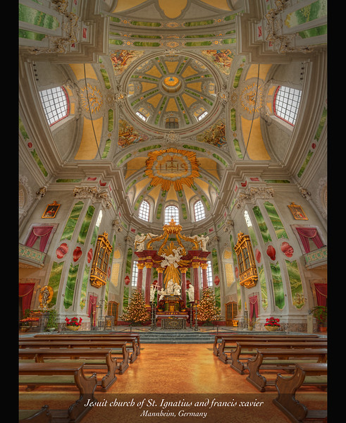 Jesuit Church of St. Ignatius and Francis Xavier, Mannheim, Germany 2013