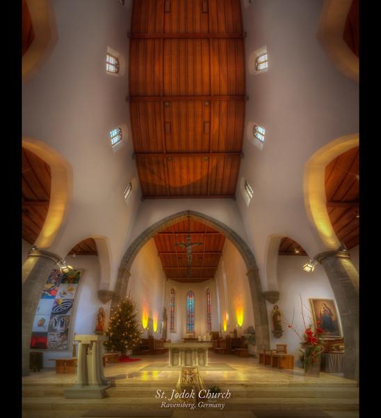 Saint Jodok Church in Ravensburg, Germany