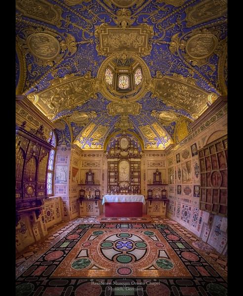 Ornate Chapel in Residene Museum, Munich, Germany 2013