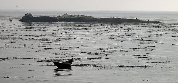 rowboat, Carmel Bay, California